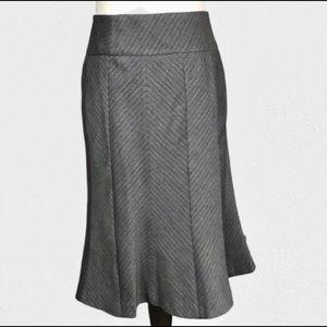 Apostrophe Brown Career Skirt